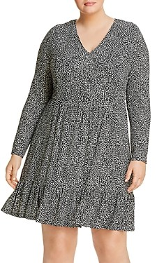 MICHAEL Michael Kors Animal Print V-Neck Dress