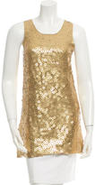 Alice + Olivia Embellished Silk-Blend Tunic