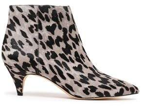 06e55b8675 Sam Edelman Kinzey Leopard-print Calf Hair Ankle Boots