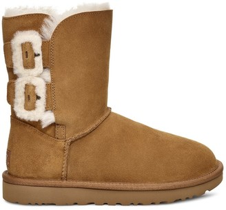 UGG Classic Bailey Fluff Buckle 2 Nubuck Ankle Boots