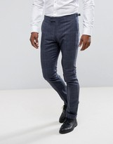 Reiss Slim Smart Pant In Wool Check