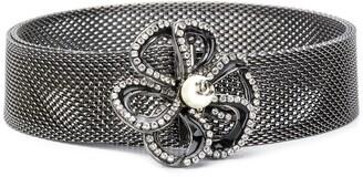 Chanel Pre Owned 2005 Crystal-Embellished Camelia Belt