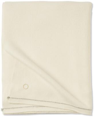 Oyuna Sabra 100% Cashmere Throw - 200x145cm - Ivory