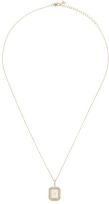 Mateo 14K yellow gold V-initial diamond necklace
