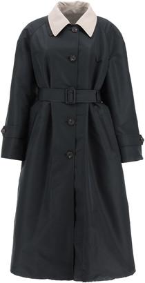 Alexander McQueen REVERSIBLE TRENCH COAT 40 Black, Beige