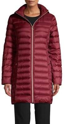 MICHAEL Michael Kors Packable Long Quilt Coat