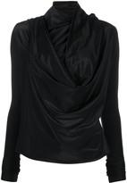 Rick Owens Lilies draped asymmetric blouse