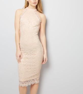 New Look AX Paris Lace High Neck Dress