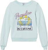 Wildfox Couture Mint Green Paradise Print Baggy Beach Jumper