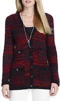 Jones New York Long Sleeve Sweater Jacket with Pockets