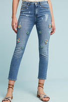 Pilcro Embellished High-Rise Skinny Ankle Jeans