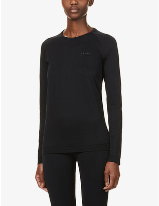 FALKE ERGONOMIC SPORT SYSTEM Arctic scoop-neck stretch-woven top