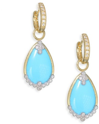 Jude Frances Provence Diamond Champagne Pear Stone Drop Earring Charms