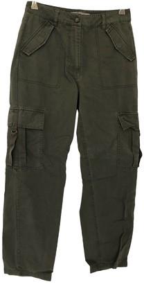 Asos Khaki Cotton Trousers for Women