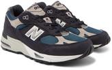 New Balance - 991 Flimby 35th Anniversary Nubuck And Mesh Sneakers