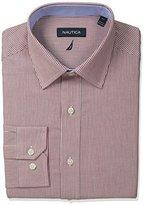 Nautica Men's Stripe Spread Collar Dress Shirt