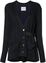 Sacai pinstriped cardigan - women - Cotton/Polyester - 3