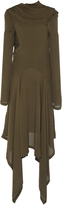 J.W.Anderson L/S Bonded Detailed Layered Georgette Dress