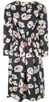 Marni drawstring Whisper print dress - women - Cotton - 38