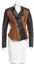 3.1 Phillip Lim Leather-Accented Moto Jacket