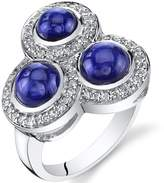 Ice 4.00 carats Created Sapphire Trinity Ring Sterling Silver