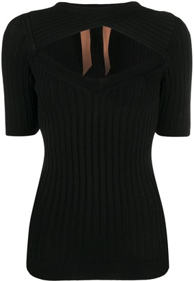 No.21 Cut-Out Knitted Top