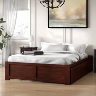 Andover MillsTM Mackenzie Storage Platform Bed Andover Mills Size: Full, Color: Antique Walnut