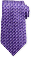 Ermenegildo Zegna Tonal 3D Diamond Silk Tie, Purple