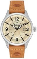 Timberland 'Blake' Leather Strap Watch, 46mm