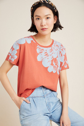 Anthropologie Barbra Floral Tee