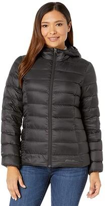 Eddie Bauer Cirruslite Down Hooded Jacket (Black) Women's Clothing