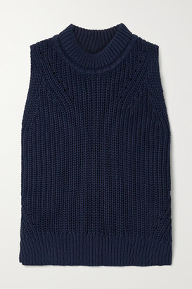 La Ligne Ribbed Cotton Sweater - Navy