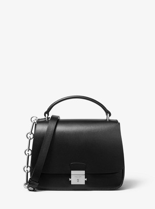 Michael Kors Mia Small Calf Leather Shoulder Satchel