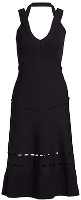 Alexis Betti Crossover Strap Knit Midi Dress