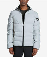 DKNY Men's Mid-Length Hooded Puffer Jacket