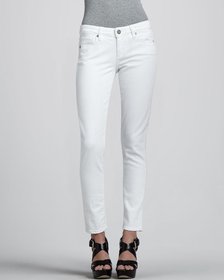 Paige Skyline Ankle Peg Jeans, White
