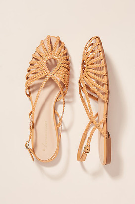 Anthropologie Joelle Braided Sandals By in Yellow Size 37