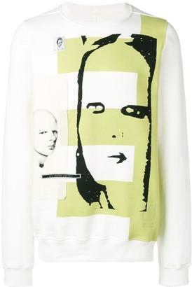 Rick Owens patch printed sweatshirt