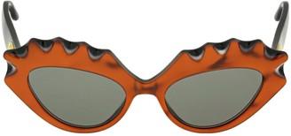 Gucci Cat-eye Sculptured Acetate Sunglasses