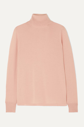 L.F. Markey Joshua Wool Turtleneck Sweater - Pink