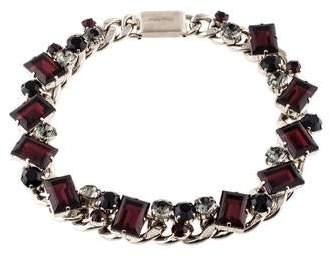 Miu Miu Crystal & Chain Necklace