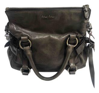 Miu Miu Bow bag Grey Leather Handbags
