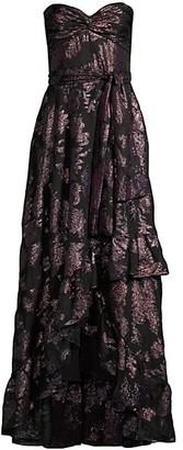 Shoshanna Toriana Strapless High-Low Gown