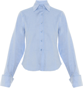 Marques Almeida MARQUES'ALMEIDA Oversized-cuff point-collar cotton-twill shirt