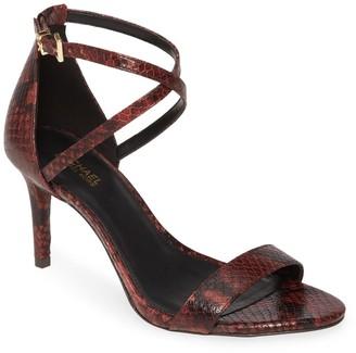MICHAEL Michael Kors Ava Leather Stiletto Heel Sandal