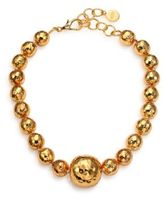Nest Hammered Dome Beaded Necklace