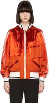 Haider Ackermann Orange Patchwork Bomber Jacket
