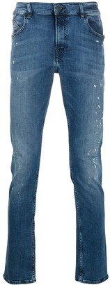 Karl Lagerfeld Paris Slim Acid Wash Jeans