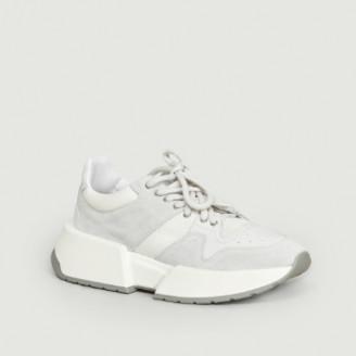 Maison Margiela White Platform Sneakers - 36 | leather | white - White/White