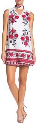 Papillon Floral Choker Sleeveless Dress